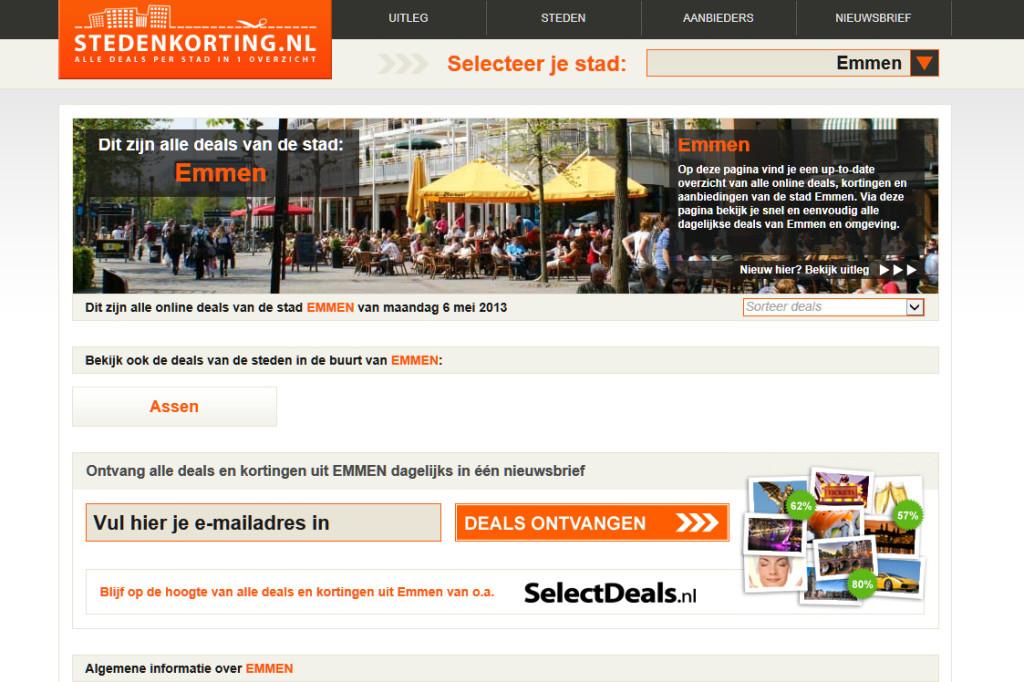 Website stedenkorting Emmen